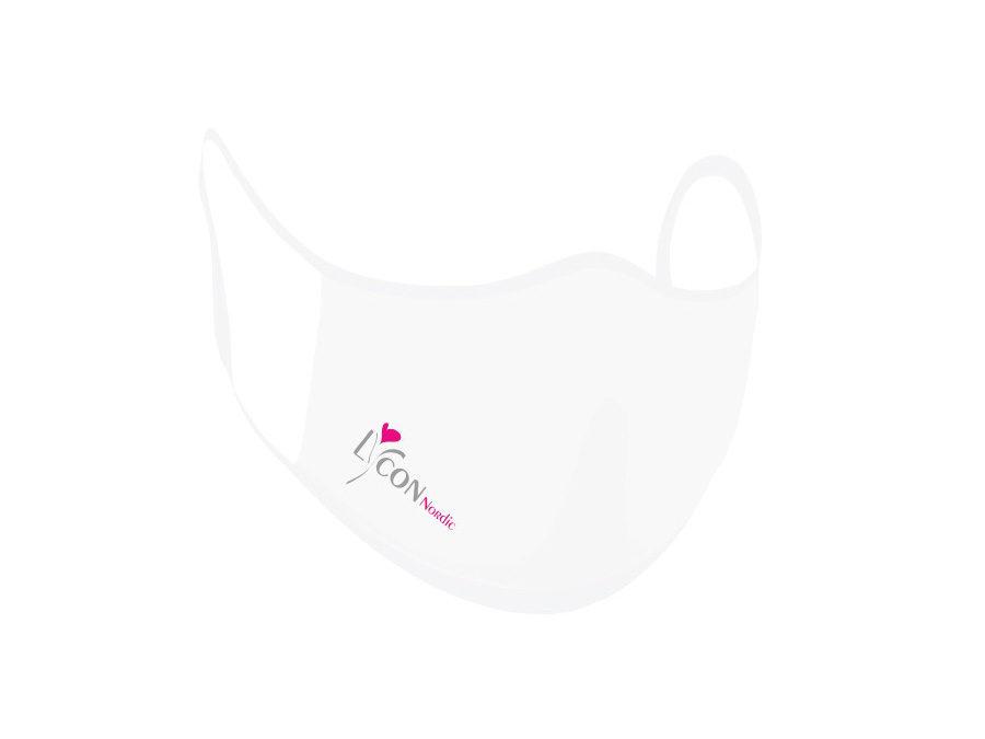 Maske Hvit – med logo